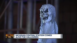 Michigan Central Station comes alive for Halloween