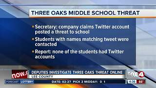 Deputies investigate threat at Three Oaks Middle School
