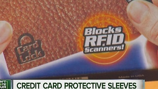 Looking at credit card protector sleeves - Video
