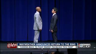 Mayweather announces fight with Pacquiao
