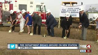Fire Department Breaks Ground on New Station - Video
