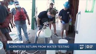 Scientists return from water testing