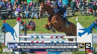 Equestrian event could relocate to Cecil County - Video