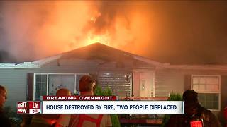 Two people displaced after Gowanda home is destroyed by fire - Video
