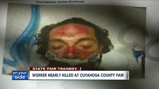 Cuyahoga County Fair worker nearly killed in 2016 - Video