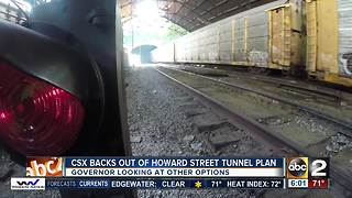 Governor disappointed as CSX bails on Baltimore's Howard Street Tunnel expansion - Video