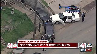 Officer-involved shooting reported in KCK - Video