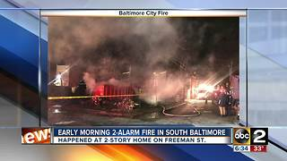 Crews fight 2-alarm fire early Sunday - Video