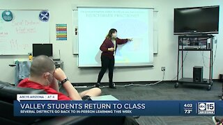 Valley students return to in-person learning Monday
