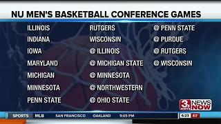 NU Basketball Announces Big Ten Games - Video