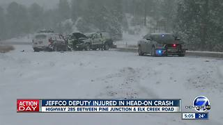 Colorado traffic updates as snow moves through Colorado on Sunday