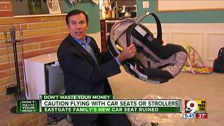 Airlines won't pay for damage to child's car seat