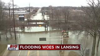 City of Lansing under state of emergency due to flooding - Video