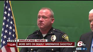 Robbery suspect killed in Greenwood shootout - Video