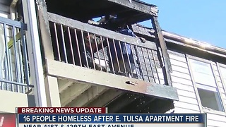 Sixteen People Homeless After Tulsa Apartment Fire - Video