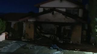 Las Vegas family loses pet, home in fire - Video