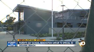 Parents say school renovation unfair to special ed - Video