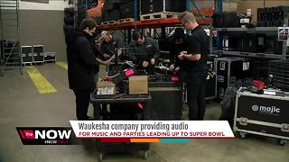 Waukesha company picked to provide audio support for Super Bowl - Video
