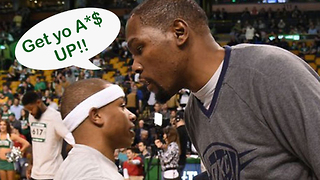 Kevin Durant Has No Time For Isaiah Thomas' FLOP - Video