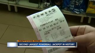Kenosha Powerball players hoping to get luck Wednesday night - Video