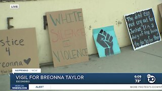 San Diegans gather to mourn Breonna Taylor for third night