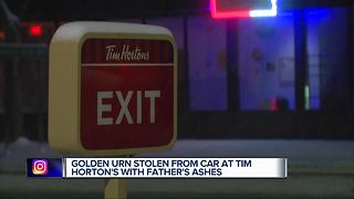 Metro Detroit woman searching for stolen urn containing father's ashes - Video