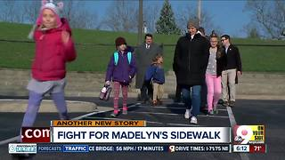 As autumn approaches, still no sidewalk to school for 10-year-old Madelyn - Video