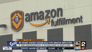 Maryland board waives tuition rule for Amazon employees - Video