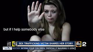 Sex trafficking victim shares story with ABC2