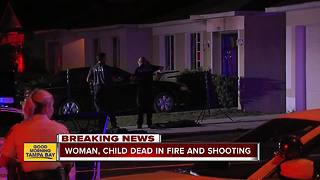 Woman and girl dead in Riverview shooting and house fire, boy critically injured - Video