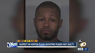Suspect in Horton Plaza shooting appears in court