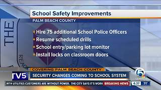 Palm Beach County outlines school safety upgrades - Video