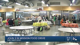 John 3:16 Mission needs donations for Thanksgiving food drive