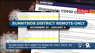 Sunnyside District returns to remote-only after Thanksgiving