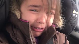 Toddler Girl Cries Over Internet Going Out - Video