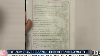 Tupac's 'Hail Mary' printed for Catholic service - Video