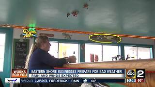 Eastern Shore businesses prepare for severe weather - Video