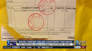 Online company selling counterfeit dish racks