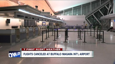 Flights canceled in and out of Buffalo Airport
