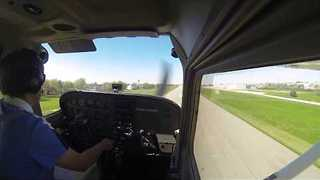 Man Executes Final Landing as Student Pilot - Video