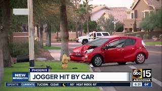 Jogger hit by car in Ahwatukee neighborhood - Video