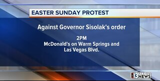 Easter Sunday protest in Las Vegas