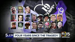 Anniversary for 19 hotshots who fought Yarnell flames - Video