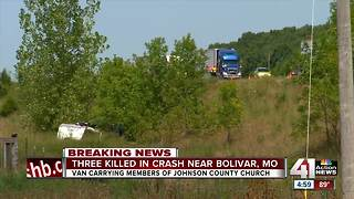 3 killed, 3 seriously hurt in Johnson County church van crash - Video