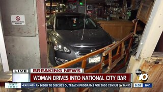 Driver slams into bar in National City