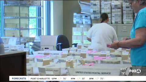 Collier County requesting to start opening ballots today