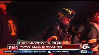 Woman killed in south side house fire - Video