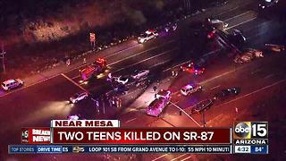 Teens killed in crash involving semi on SR-87 - Video