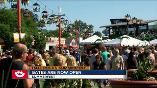 Thousands attend first day of Summerfest - Video