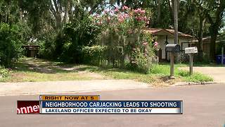 Armed carjacking suspect shot in officer-involved shooting in Lakeland - Video